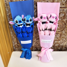 Lilo Stitch Toy Bouquet With Scented Artificial Roses – SALE